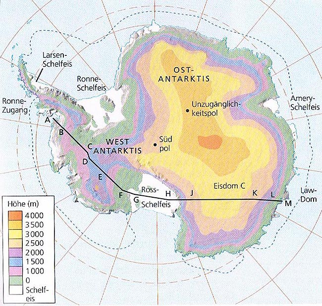 Most of the fresh water on the continents is bound in polar ice caps